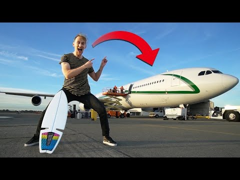 SURFING IN PRIVATE JET (SLUSH FLIGHT)