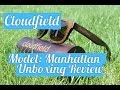 Unboxing review of wooden sunglasses - Cloudfield. Model: Manhattan (Wayfarer design)