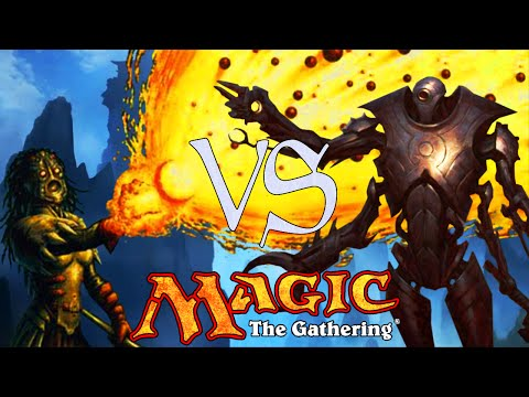 MtG Modern Gameplay - Jeskai Ascendancy Storm VS Affinity