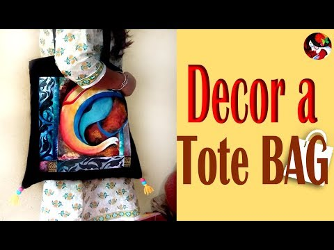 DIY Tote Bags – How Decorate Cheap Tote Bags /Fabric Canvas Bag