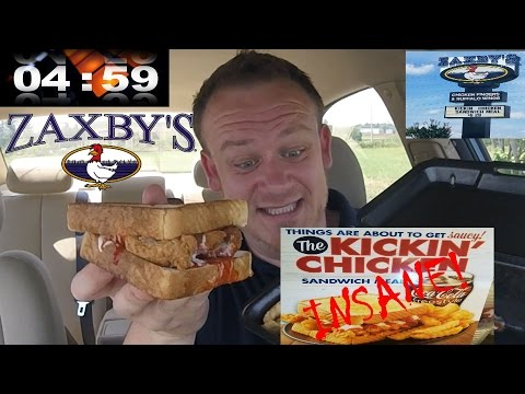ZAXBY'S ☆INSANE☆ KICKIN' CHICKEN SANDWICH ☆CRYING☆!!!