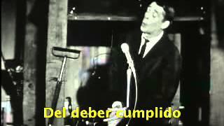 Jacques Brel - Le Tango Funèbre subtitulada en español