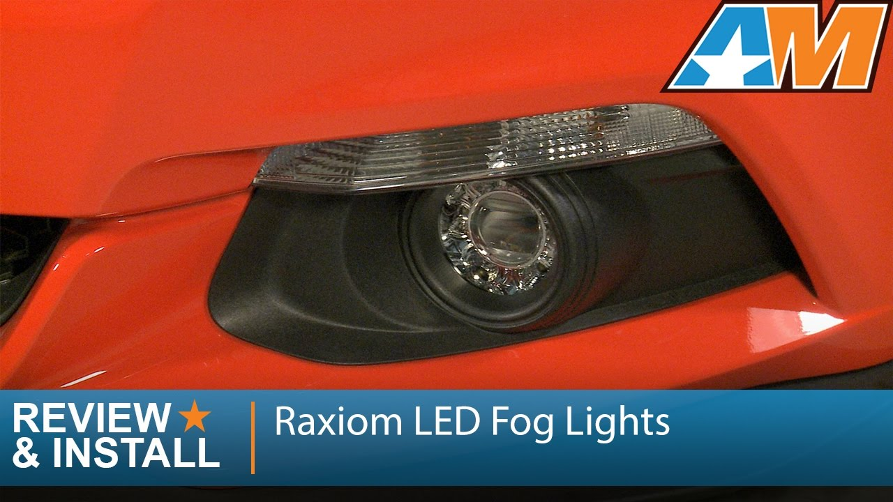2015 2016 mustang raxiom led fog lights clear review install youtube [ 1280 x 720 Pixel ]