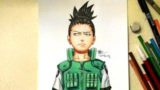 Drawing Shikamaru Nara (Naruto)-Menggambar