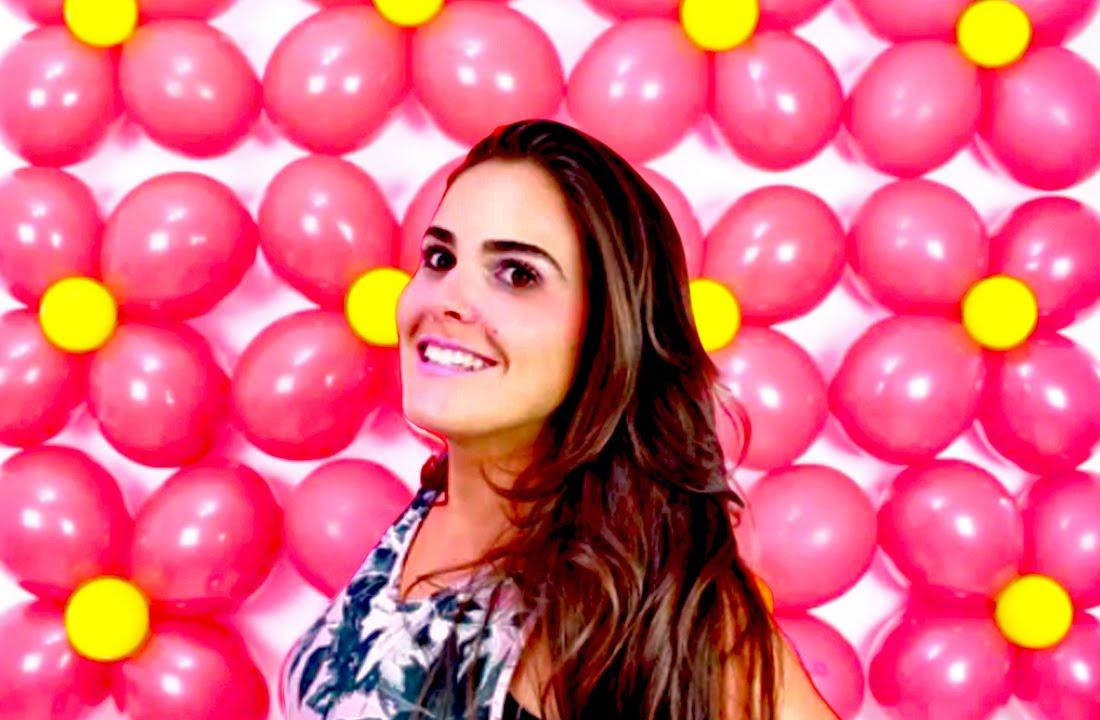 Parede de Balões Simples e Fácil de Fazer para Festa Infantil YouTube -> Decoração Com Balões Para Aniversário
