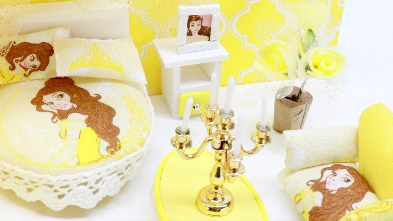 Diy Miniature Dollhouse Disney Princess Belle Bedroom Not A Kit Youtube
