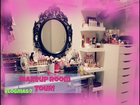 BEAUTY ROOM TOUR | MAKEUP COLLECTION | VLOGMAS 7