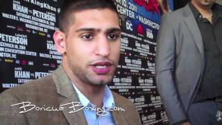 One on One with AMIR KHAN and LAMONT PETERSON in Washington DC (BoricuaBoxing.com) 720HD