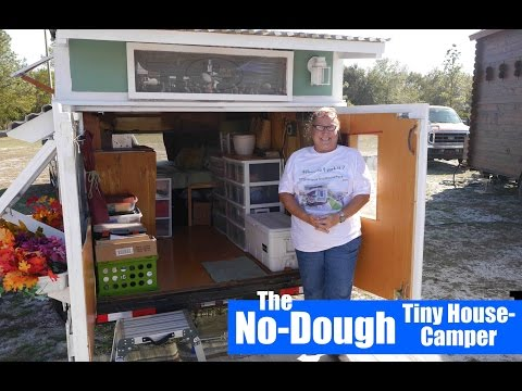 Woman builds a 'Toothpicks and Tape' DIY Tiny House/Camper