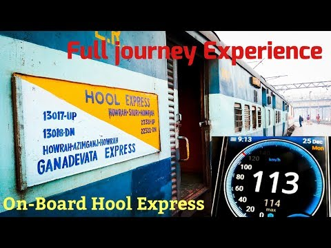 Full Journey from Howrah to Siuri | On-Board Hool Express