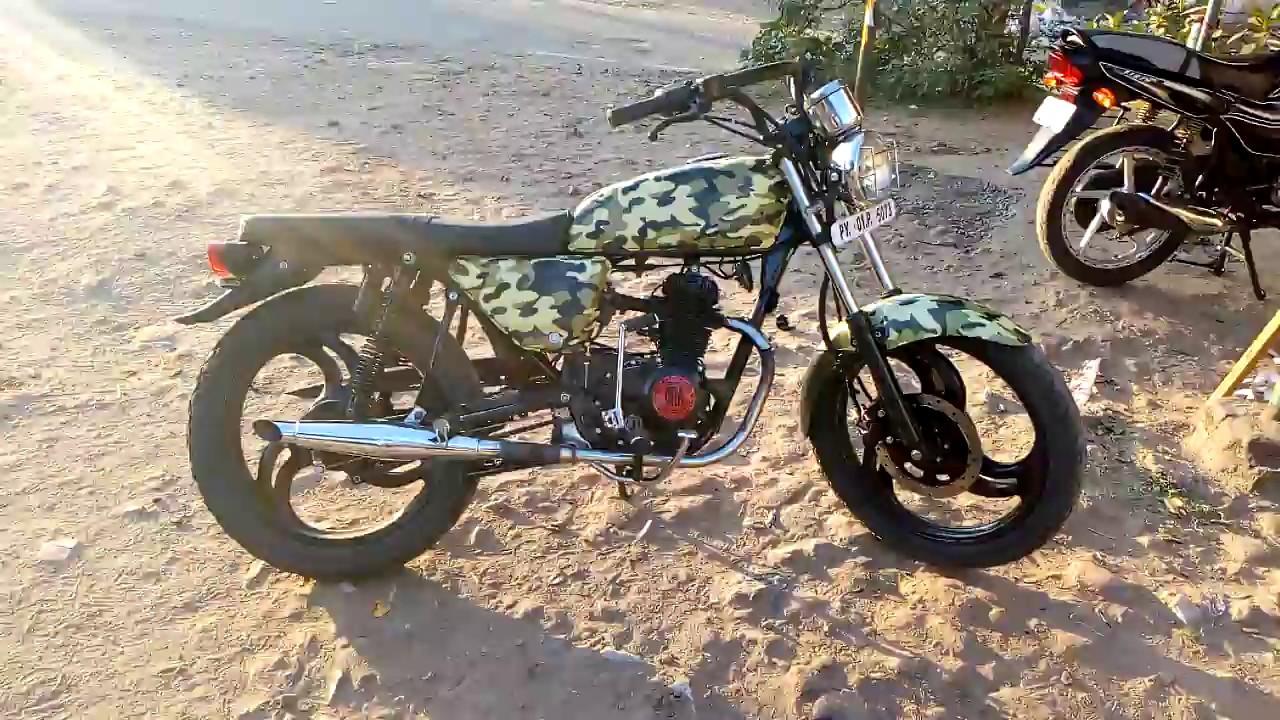 Army colour sticker wrap in bike