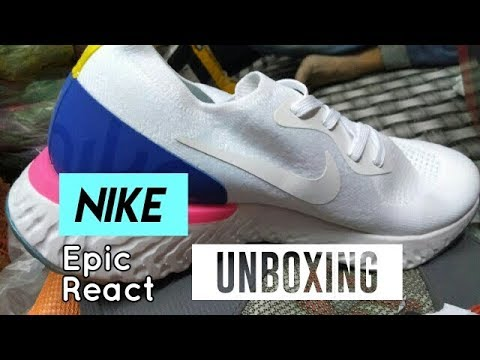 7d83e1a330353 Nike Epic React Flyknit   Triple White   ON FEET   UNBOXING