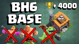 BEST BH6 BASE ANTI 1 STAR !! { NO CLICKBAIT } W/ PROOF !! | BUILDER HALL 6 BASE | Clash Of Clans