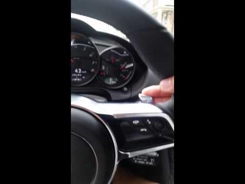 Porsche Macan Turbo S F1 Steering wheel on 987.2 Cayman PDK w/ Multifunction