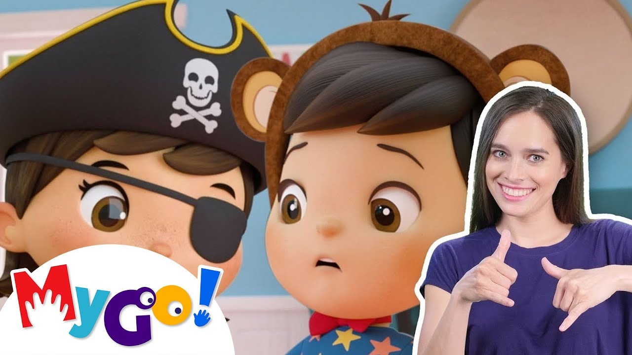 Dress Up Song! | MyGo! Sign Language For Kids | Little Baby Bum - Nursery Rhymes | ASL