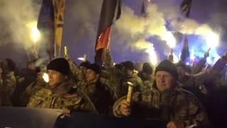 Марш наций в центре Киева: файер-шоу и факелы