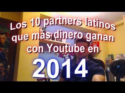 Los 10 partners latinos que más dinero ganan con Youtube en 2014 #SEOArticulo