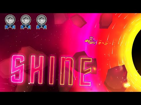 """""""Shine"""" (Demon) by balloons All Coins - Geometry Dash 2.11 - 동영상"""