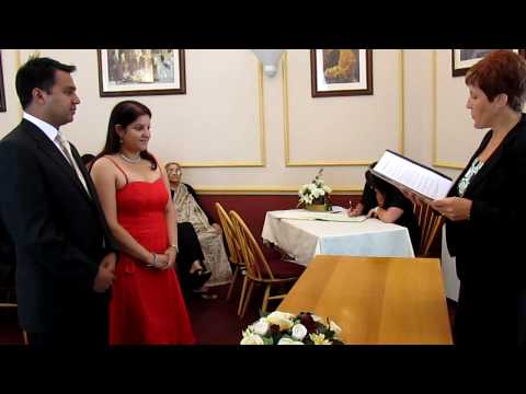 Civil wedding service of Manasi Kelkar and Akshay Kumar in Lowestoft Registry Office