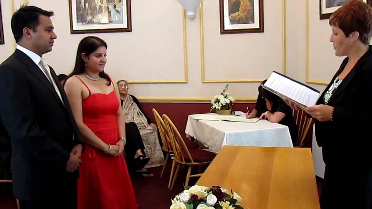 Civil Wedding Service Of Manasi Kelkar And Akshay Ar In Lowestoft Registry Office You