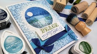 Partial Embossing, Masking & Scene Building Stamp School!
