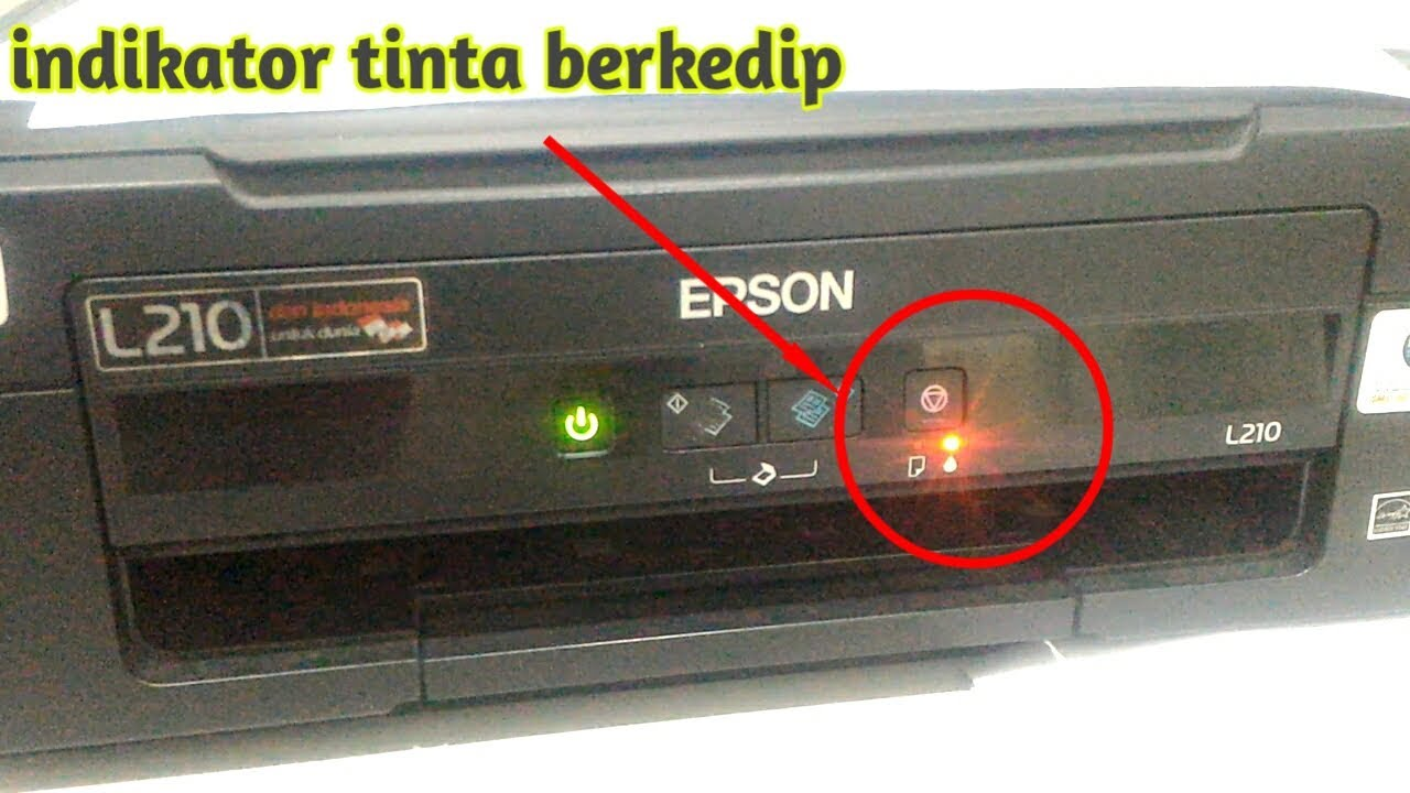 Cara Mengatasi Indikator Tinta Berkedip Pada Printer L210 Youtube