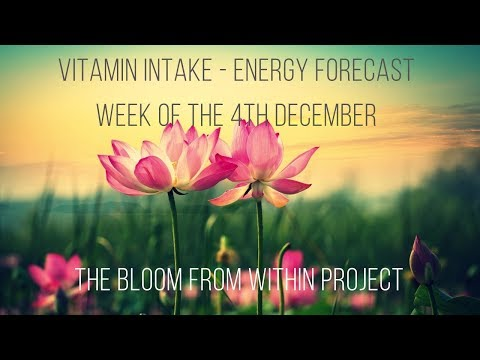 Twin Flame Vitamin Intake - Energy Forecast for the week of the 4th of December