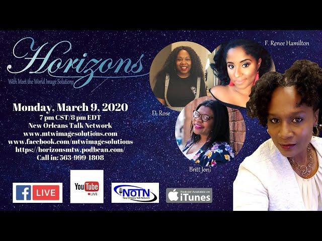 Horizons Meets Krewe of Lit Authors:  Britt Joni, D. Rose, & F. Renee Hamilton