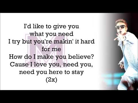 Justin Bieber feat. Big Sean - Memphis (with Lyrics)