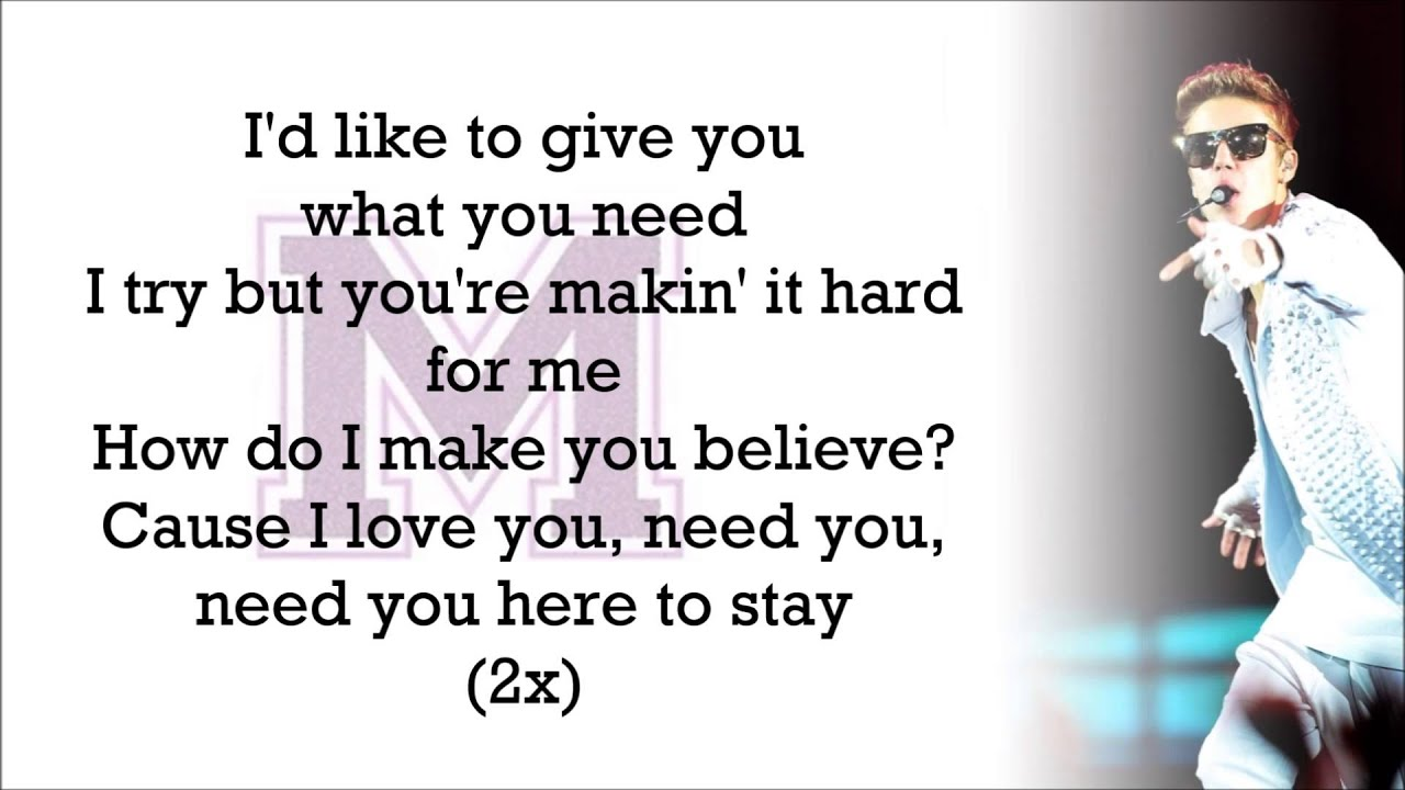 Justin Bieber feat. Big Sean   Memphis with Lyrics