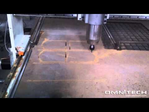 OMNI cnc router process wood