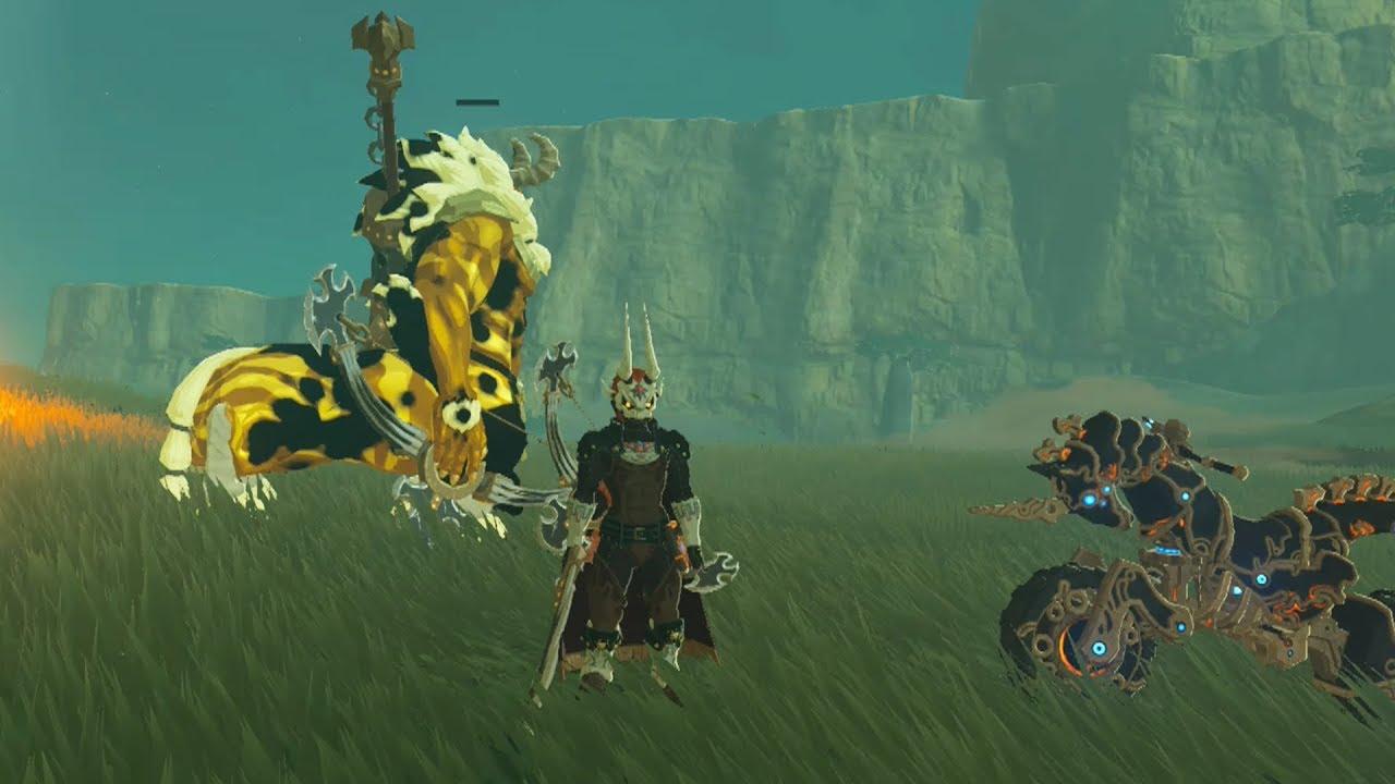 Zelda Breath Of The Wild Master Cycle: Phantom Ganon Kills A Gold Lynel On The Master Cycle Zero