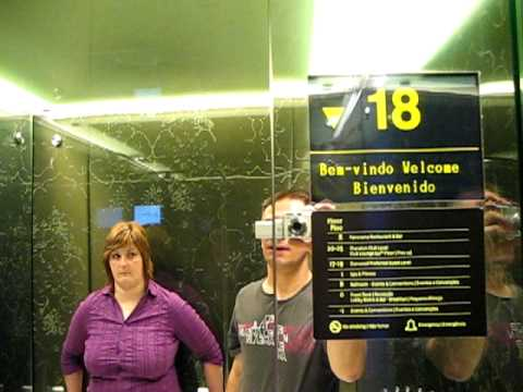Express elevator - Hotel Sheraton Lisbon, Portugal.AVI