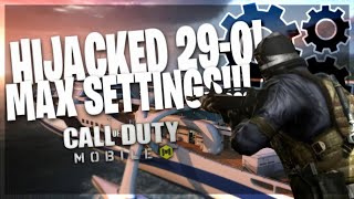 29-0 Choking Nuclear on Hijacked Hardpoint! Call Of Duty: Mobile Beta ( MAX FPS + Graphics )