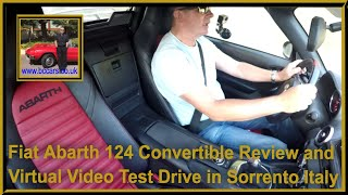 Fiat Abarth 124 Convertible Review and Virtual Video Test Drive in Sorrento Italy