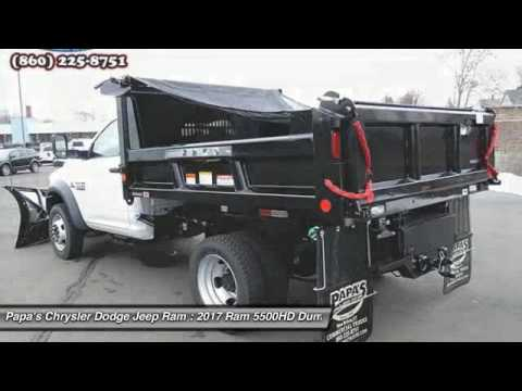 2017 Ram 5500hd Dump Plow Truck New Britain Ct 56059 Papa S Chrysler Dodge Jeep
