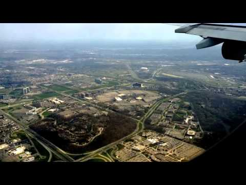 Air France Airbus landing in Detroit Metropolitan Airport