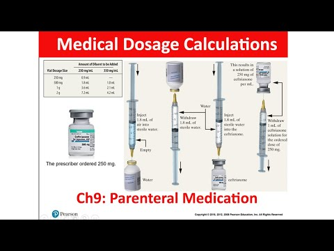 Medical Dosage Calculations - Ch9: Parenteral Medication