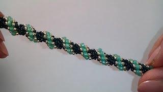 Tutorial: beautiful bracelet. DIY. Браслет из бисера. МК