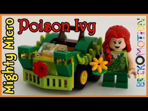 Poison Ivy's Flower Power car - custom LEGO Mighty Micro