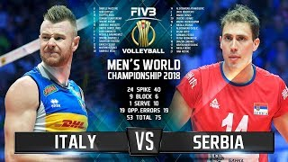 Italy vs. Serbia | Highlights | Final 6 Mens World Championship 2018