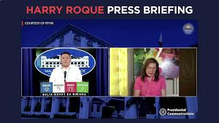 Harry Roque Press Briefing For Monday March 29