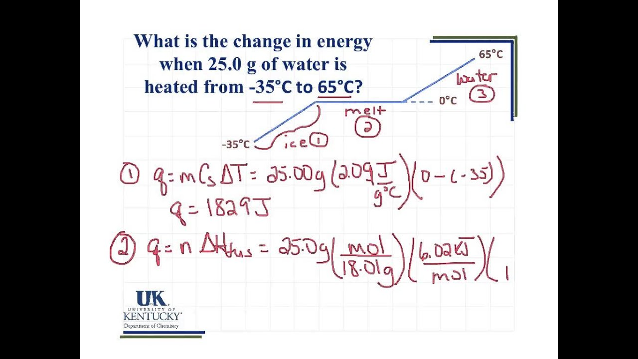 Heating Curve Calculation - YouTube