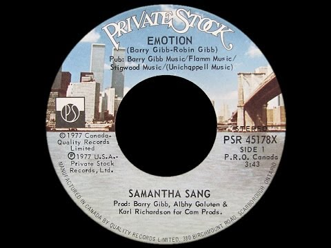 Samantha Sang ~ Emotion 1978 Disco Purrfection Version