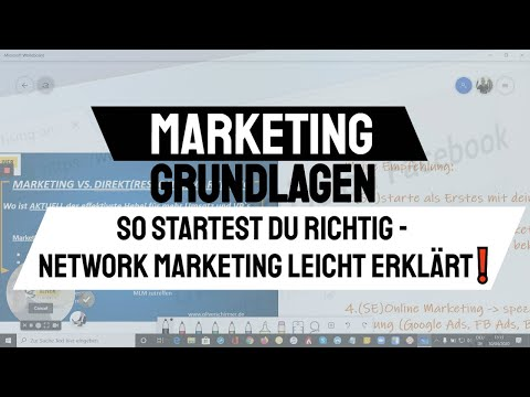 Marketing Grundlagen - So startest du richtig - Network Marketing leicht erklärt❗