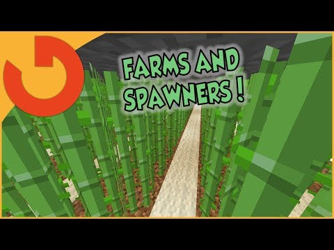 SETTING UP THE FARMS AND SPAWNERS! | Play.DinoRaids.com