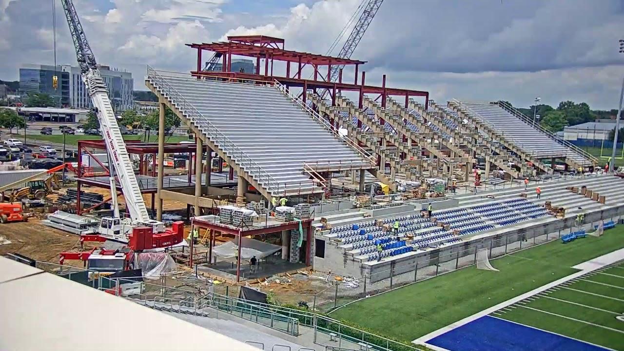 timelapse part 2: delaware stadium - youtube