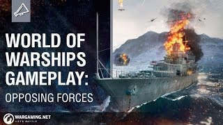 World of Warships Gameplay - Opposing Forces