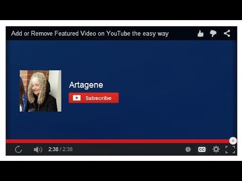 Add or Remove Featured Video on YouTube the easy way