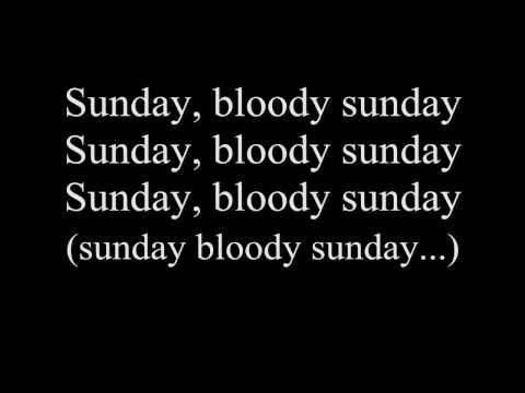 U2-Sunday Bloody Sunday w/lyrics
